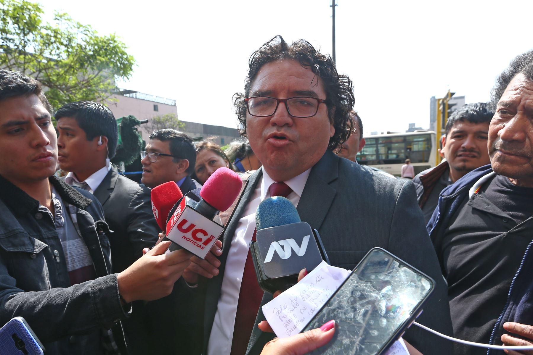 Giancarlo Gereda, abogado defensor de Melissa Gonzales Gagliuffi. Foto: ANDINA/Melina Mejía