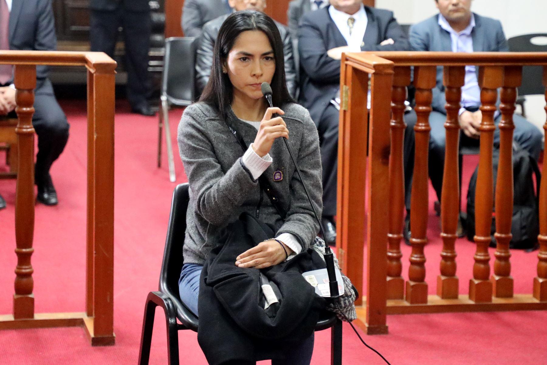 Audiencia para evaluar si Melisa González Gagliuffi recibe prisión preventiva. Foto: Poder Judicial