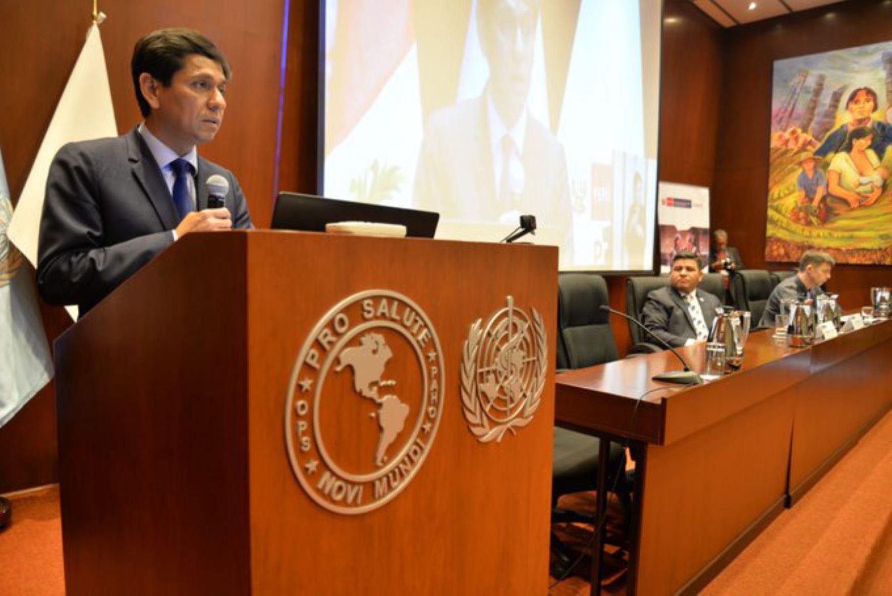 El titular del Ministerio de Desarrollo e Inclusión Social (Midis), Jorge Meléndez, participó en una actividad conmemorativa por el octavo aniversario del programa social Pensión 65.