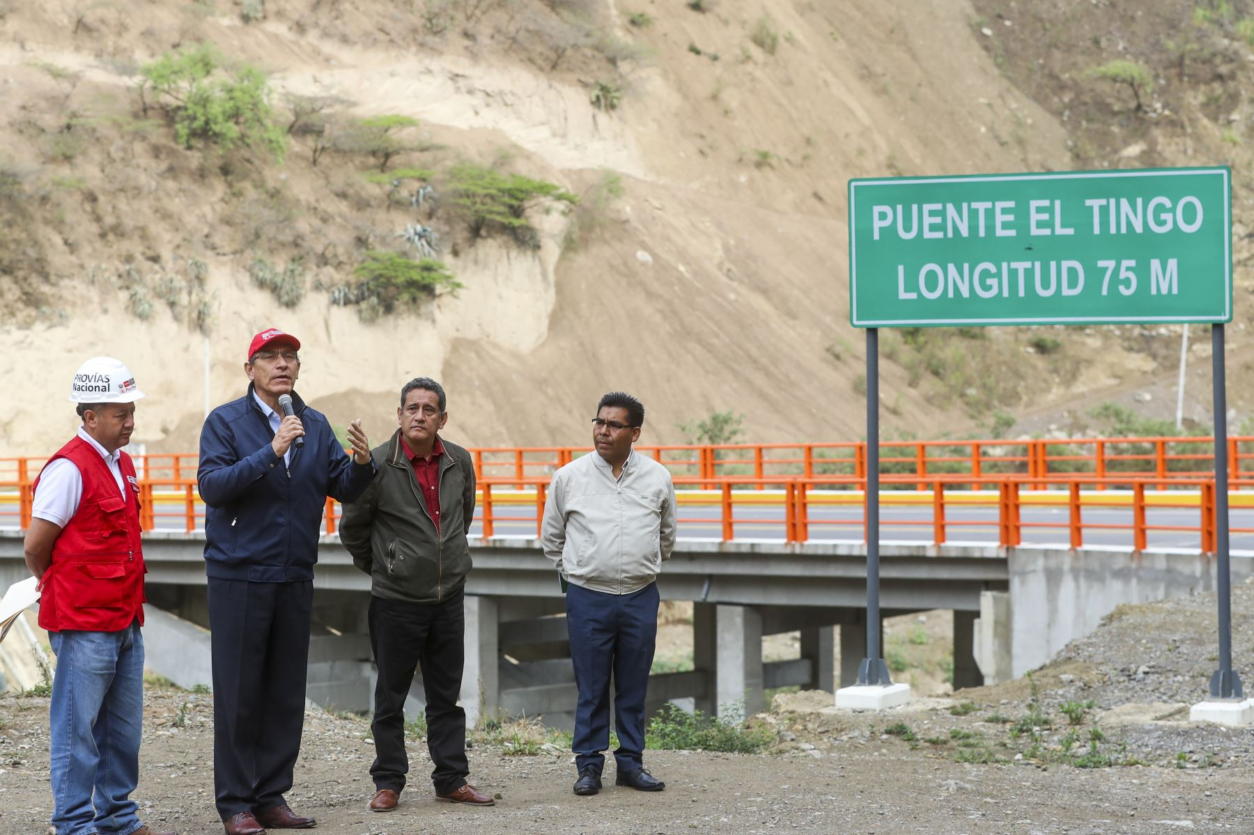 Presidente Vizcarra, Inaugura el puente Tingo, principal vía de acceso a la ciudad de Cajamarca. Foto: ANDINA/ Prensa Presidencia