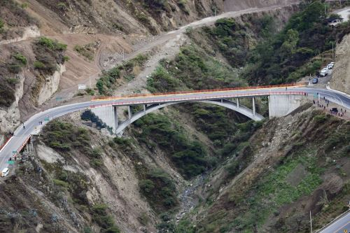 Presidente Vizcarra inaugura puente El Tingo, principal vía de acceso a la ciudad de Cajamarca