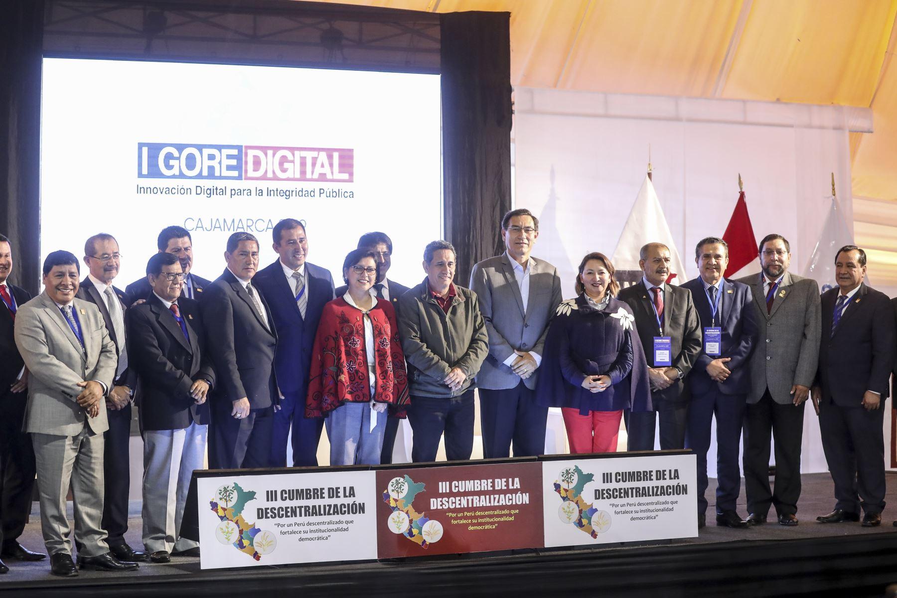 Presidente de la República, Martín Vizcarra, asiste a la clausura del I GORE Digital para la Integridad. Foto: ANDINA/ Prensa Presidencia