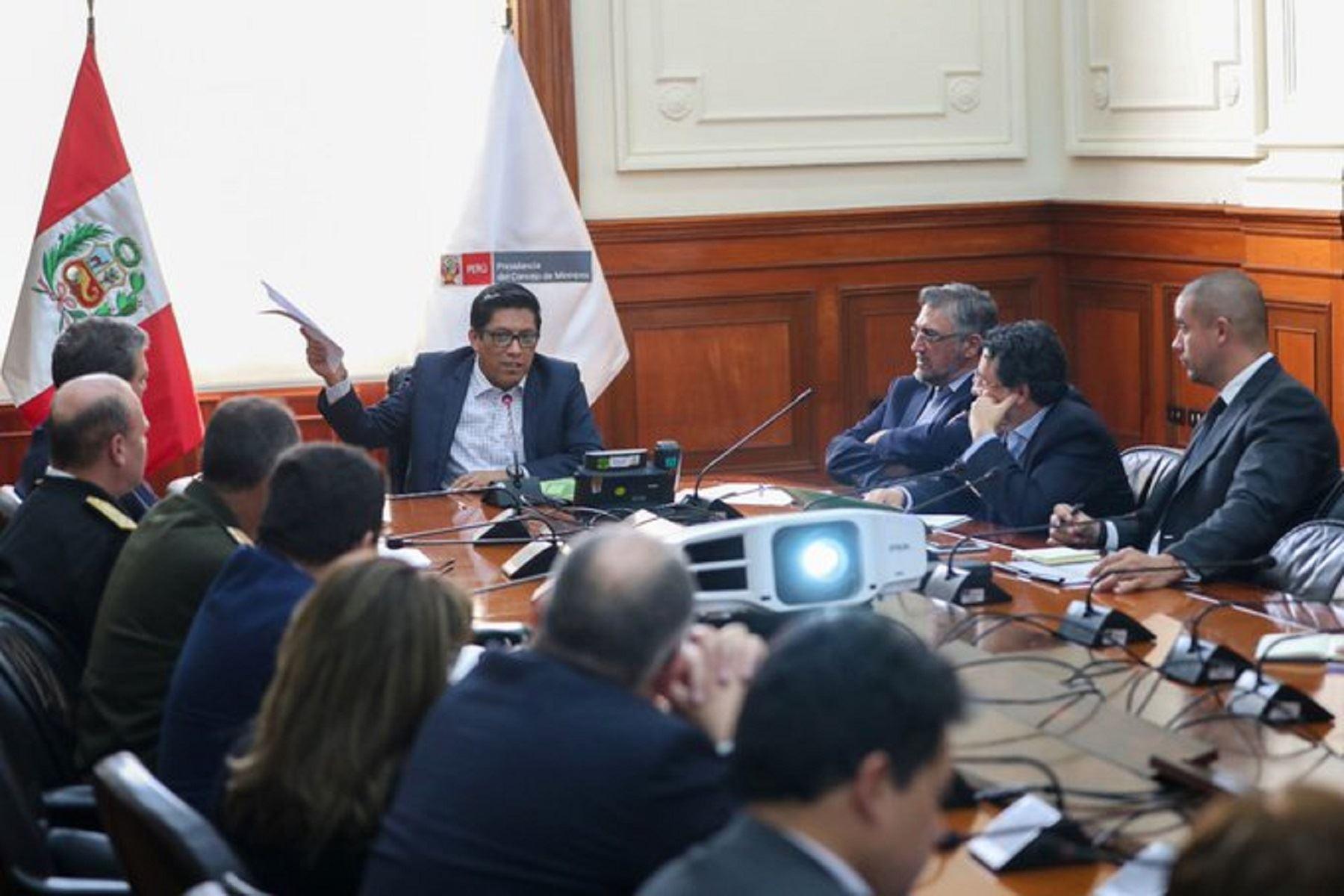 Presidente del Consejo de Ministros, Vicente Zeballos, instala mesa técnica para acciones del Estado en desarrollo alternativo. Foto: Difusión.