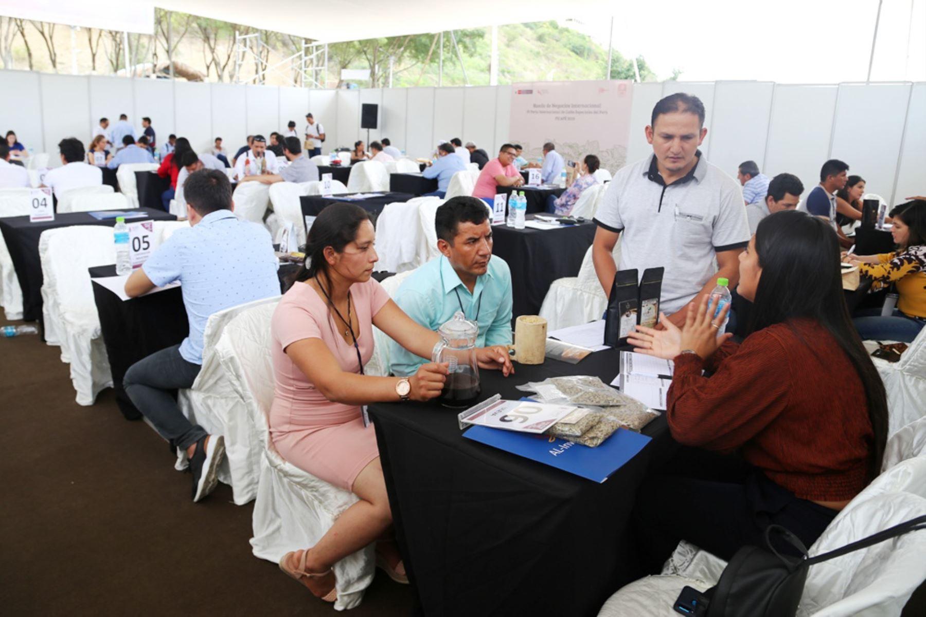 Rueda de negocios en Ficafé 2019, que se desarrolló en Jaén, Cajamarca, generó compromisos de negocios por más de S/ 20 millones. ANDINA/Difusión