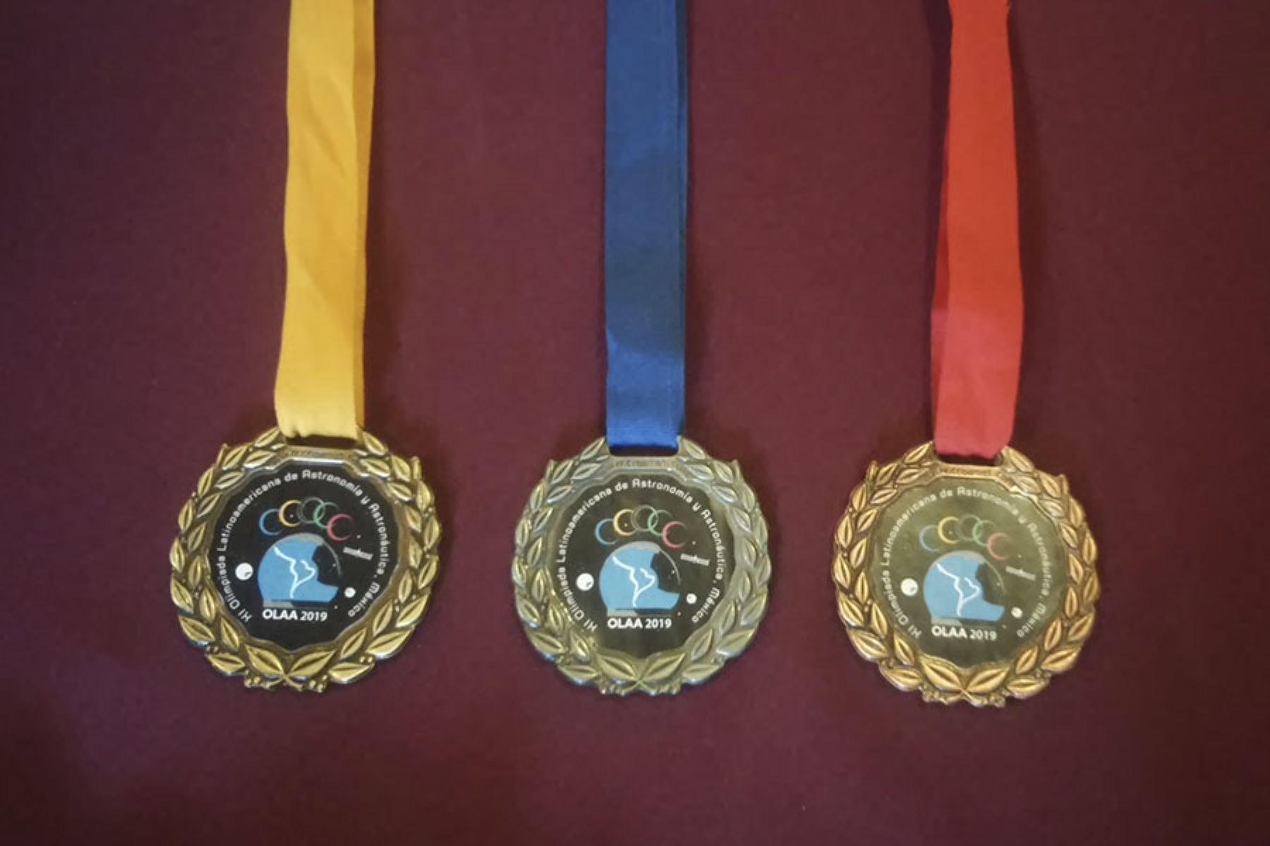 Cinco escolares de Villa María del Triunfo consiguieron una medalla de oro y dos de plata. Foto: XI Olimpiada Latinoamericana de Astronomía y Astronáutica 2019