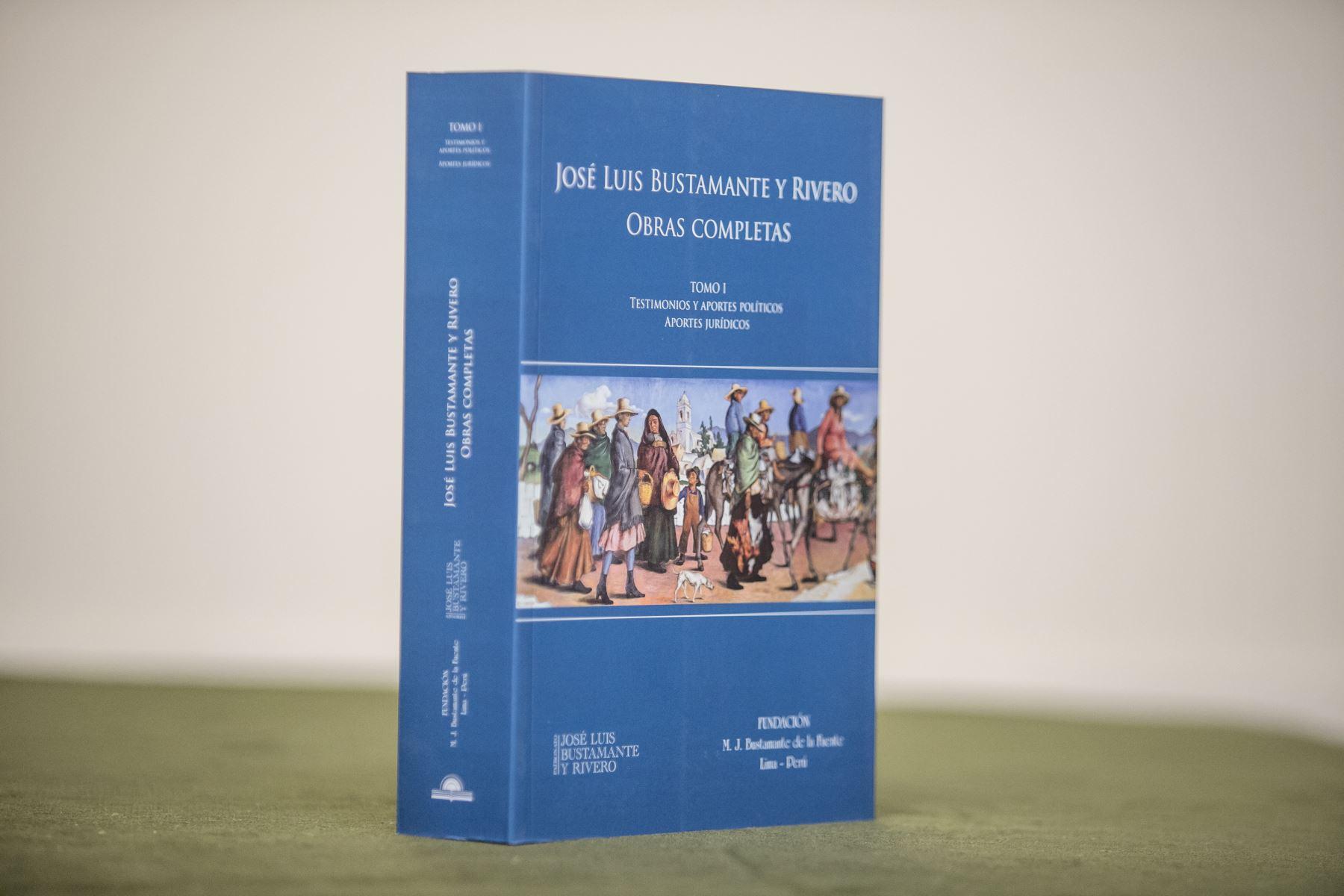 Publican tomos con la obra completa de José Luis Bustamante y Rivero. Cortesía
