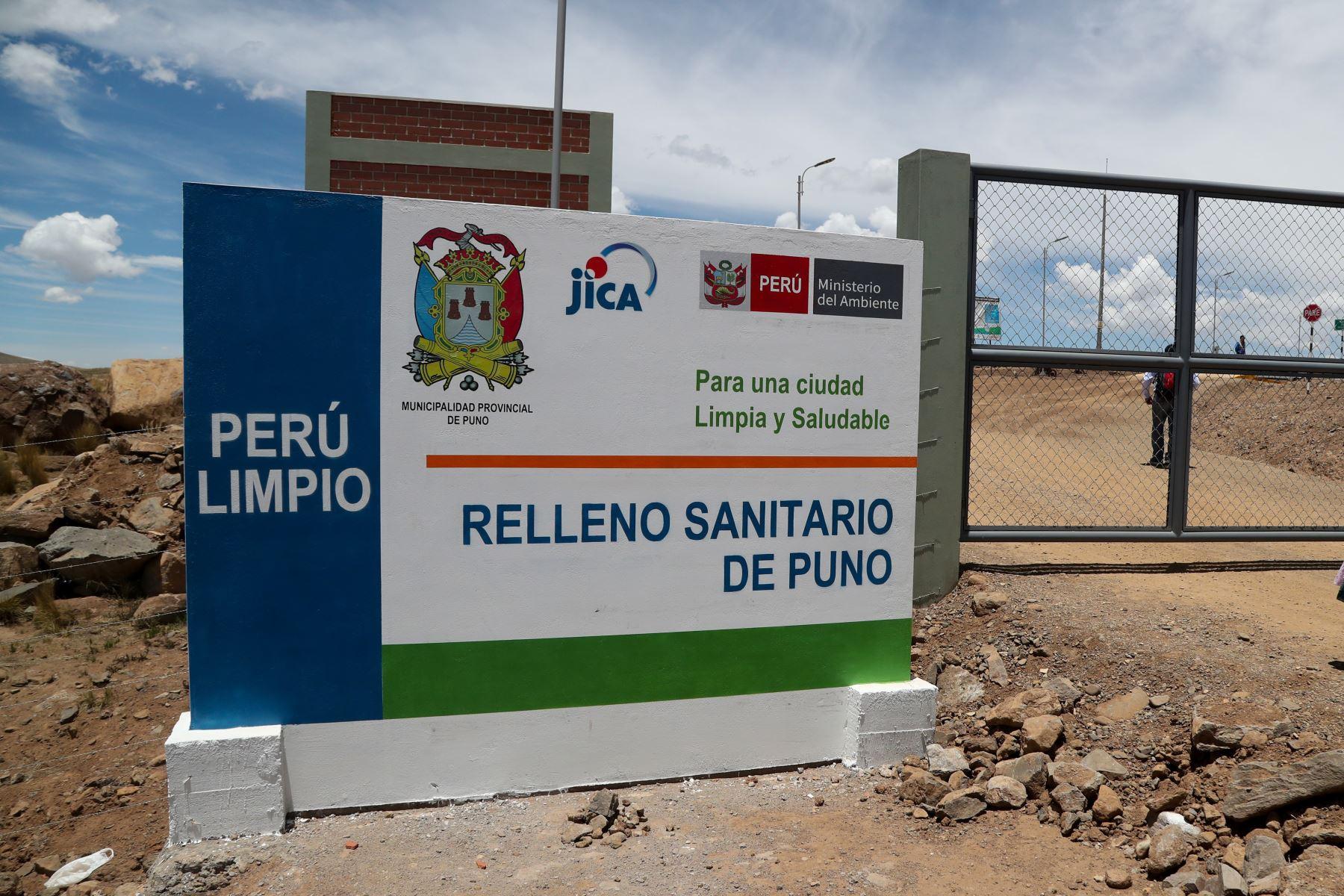 La ciudad de Puno ya cuenta con un nuevo relleno sanitario y planta de valorización.