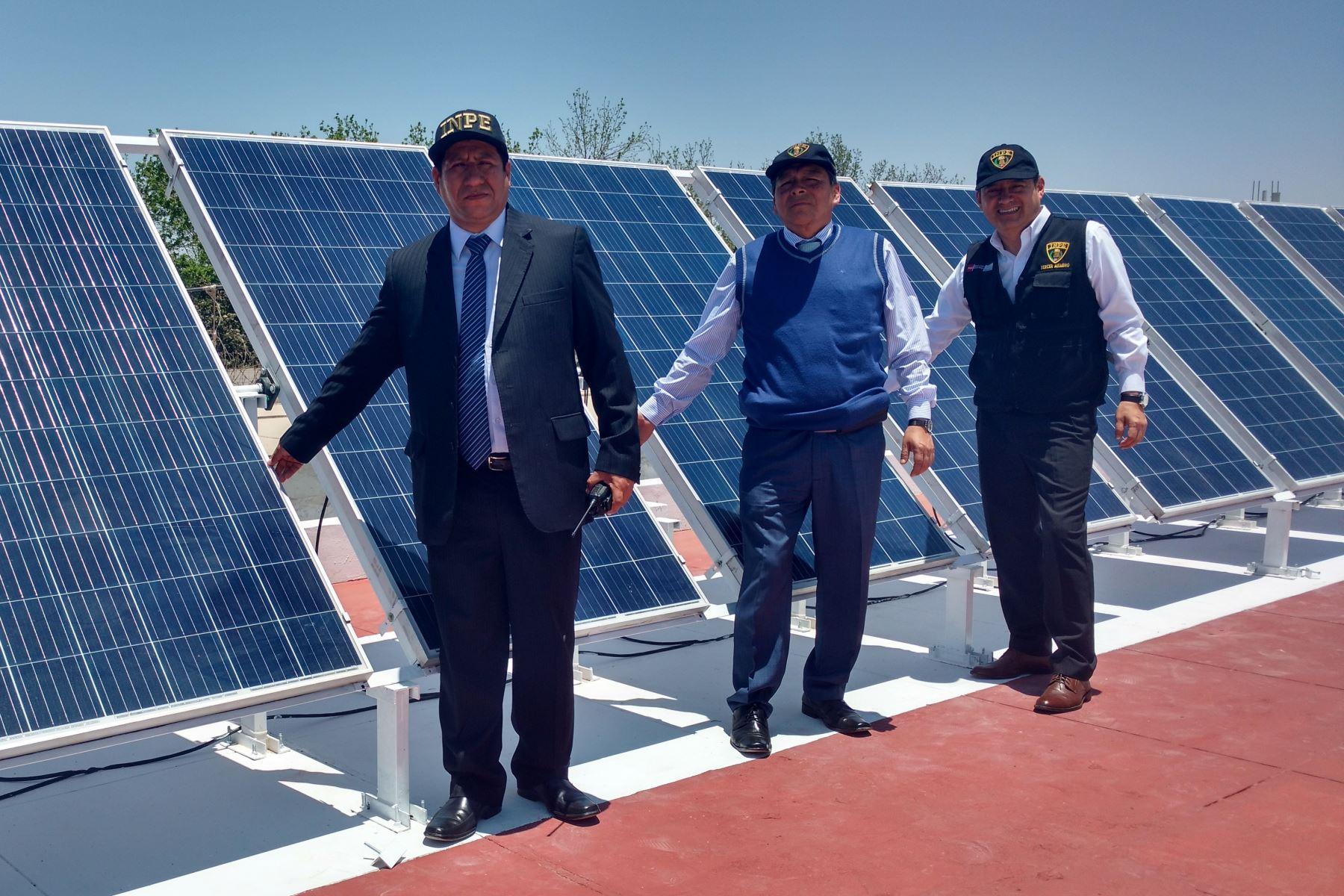 Penal de Ica se convierte en primer establecimiento penitenciario que emplea energía solar.Foto:  ANDINA/Difusión