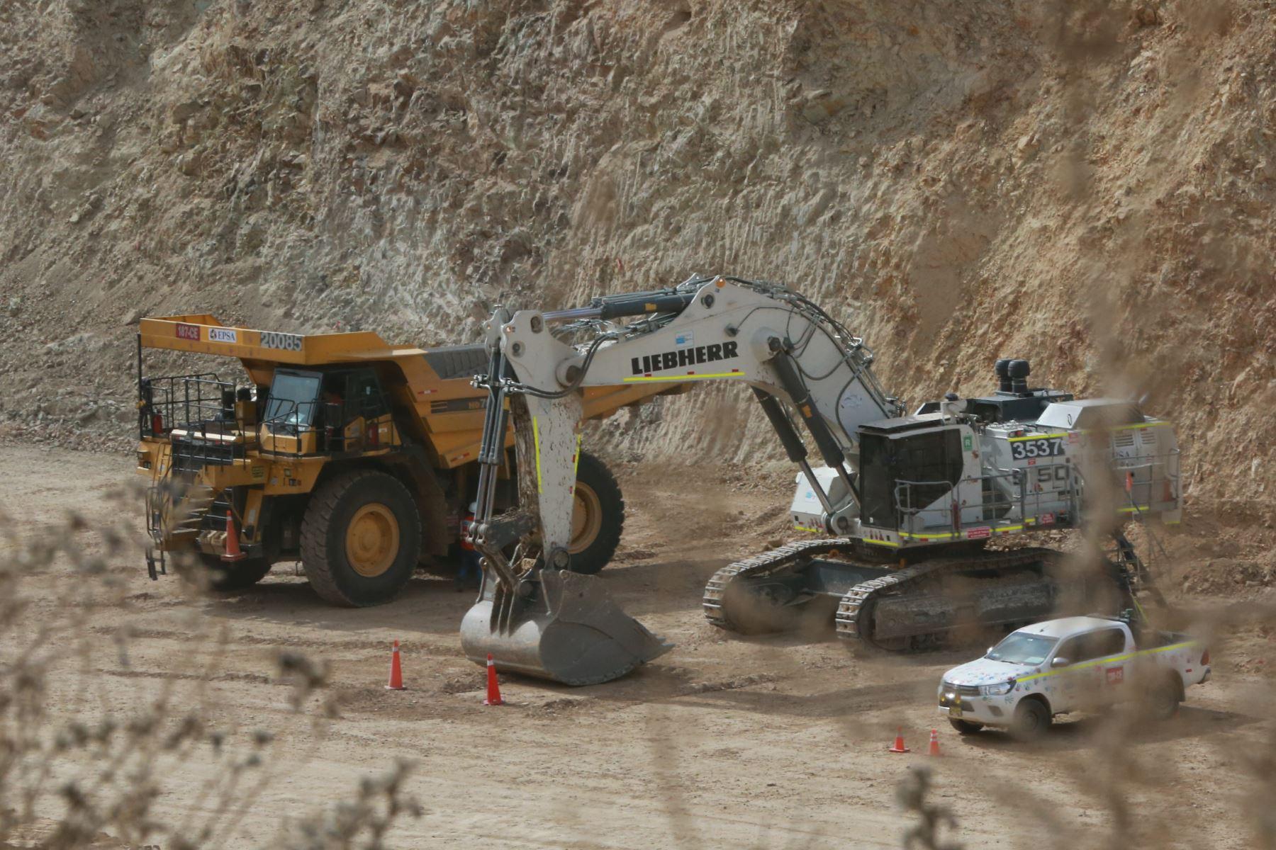 Proyecto minero Quellaveco en la región Moquegua. ANDINA/Jhony Laurente