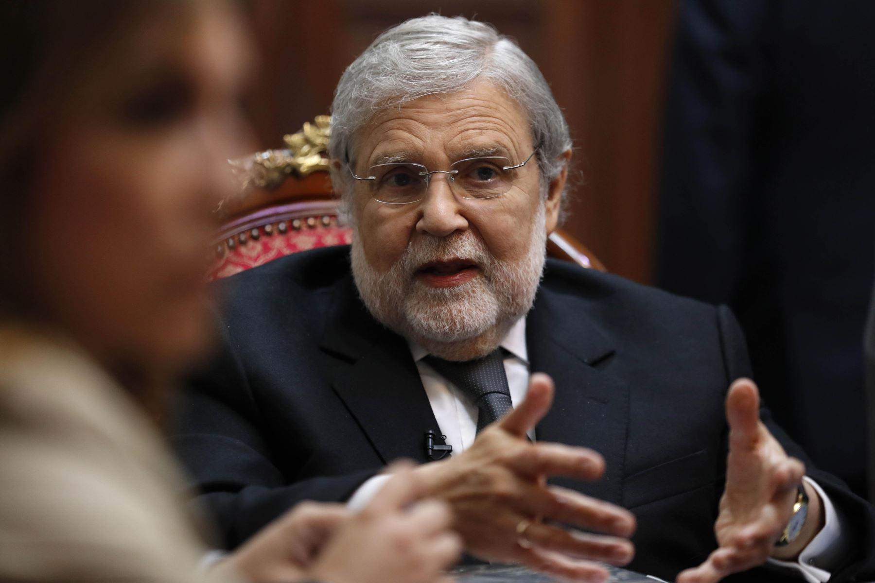 Magistrado Ernesto Blume, presidente del Tribunal Constitucional.