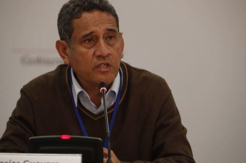 Presidente de la Asamblea Nacional de Gobiernos Regionales (ANGR) y gobernador regional de Cajamarca, Mesías Guevara Amasifuén. ANDINA/Carlos Lezama