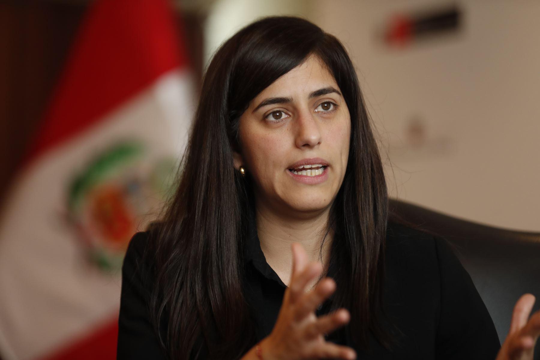 Ministra de Economía y Finanzas, María Antonieta Alva. ANDINA/Carlos Lezama