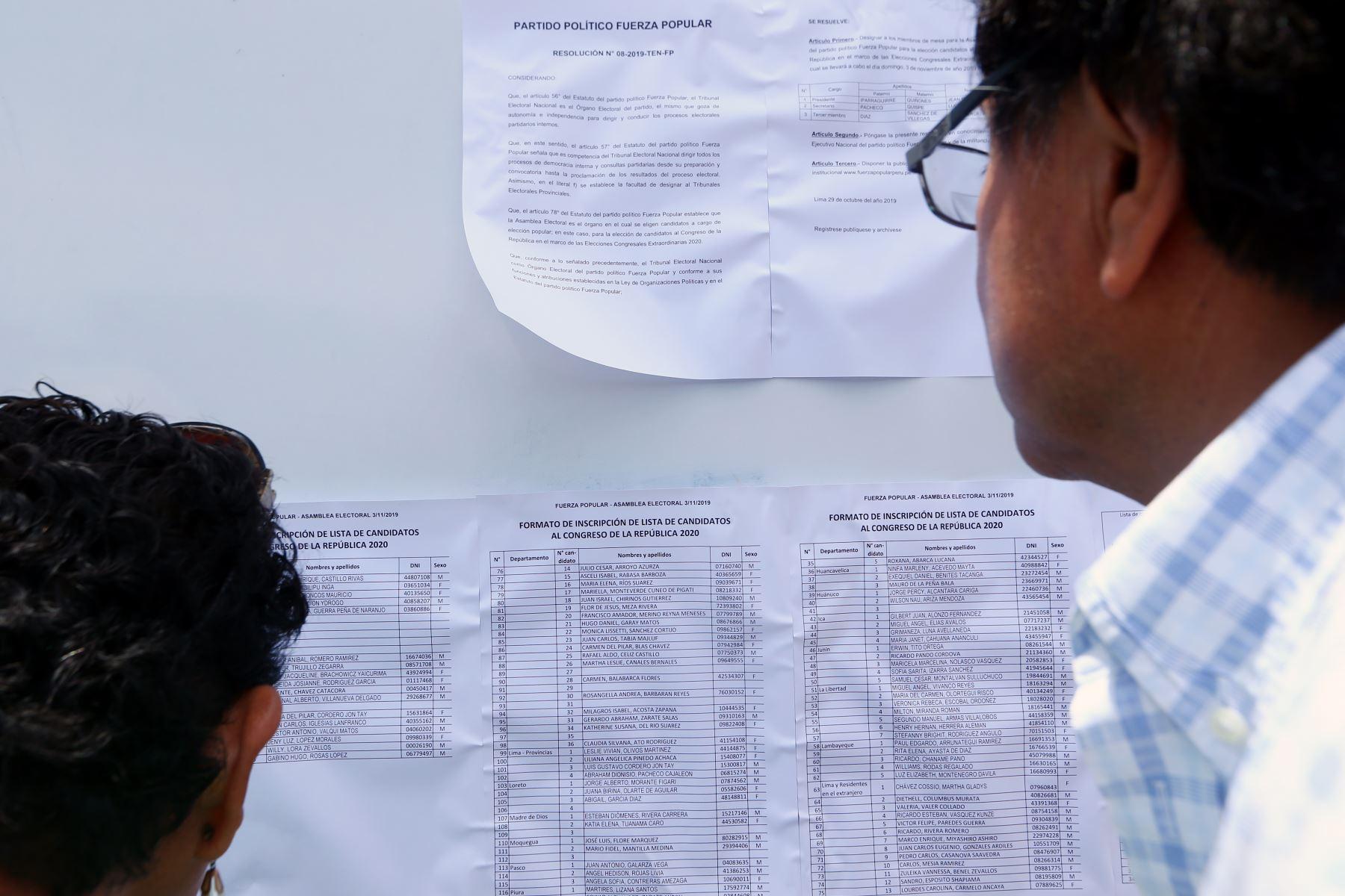Elecciones primarias. Foto: ANDINA/Melina Mejía