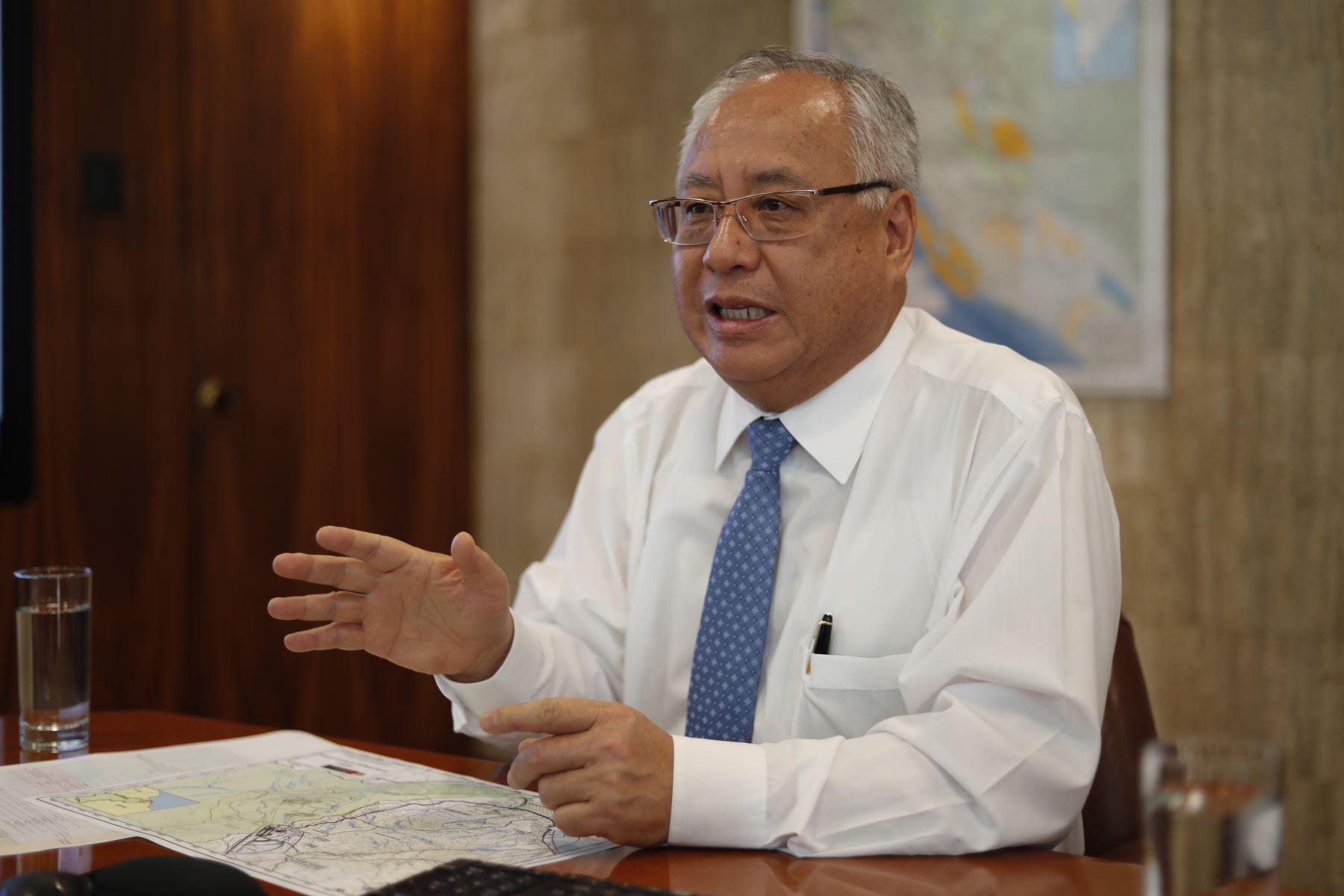 Ministro de Energía y Minas, Carlos Liu. ANDINA/Renato Pajuelo