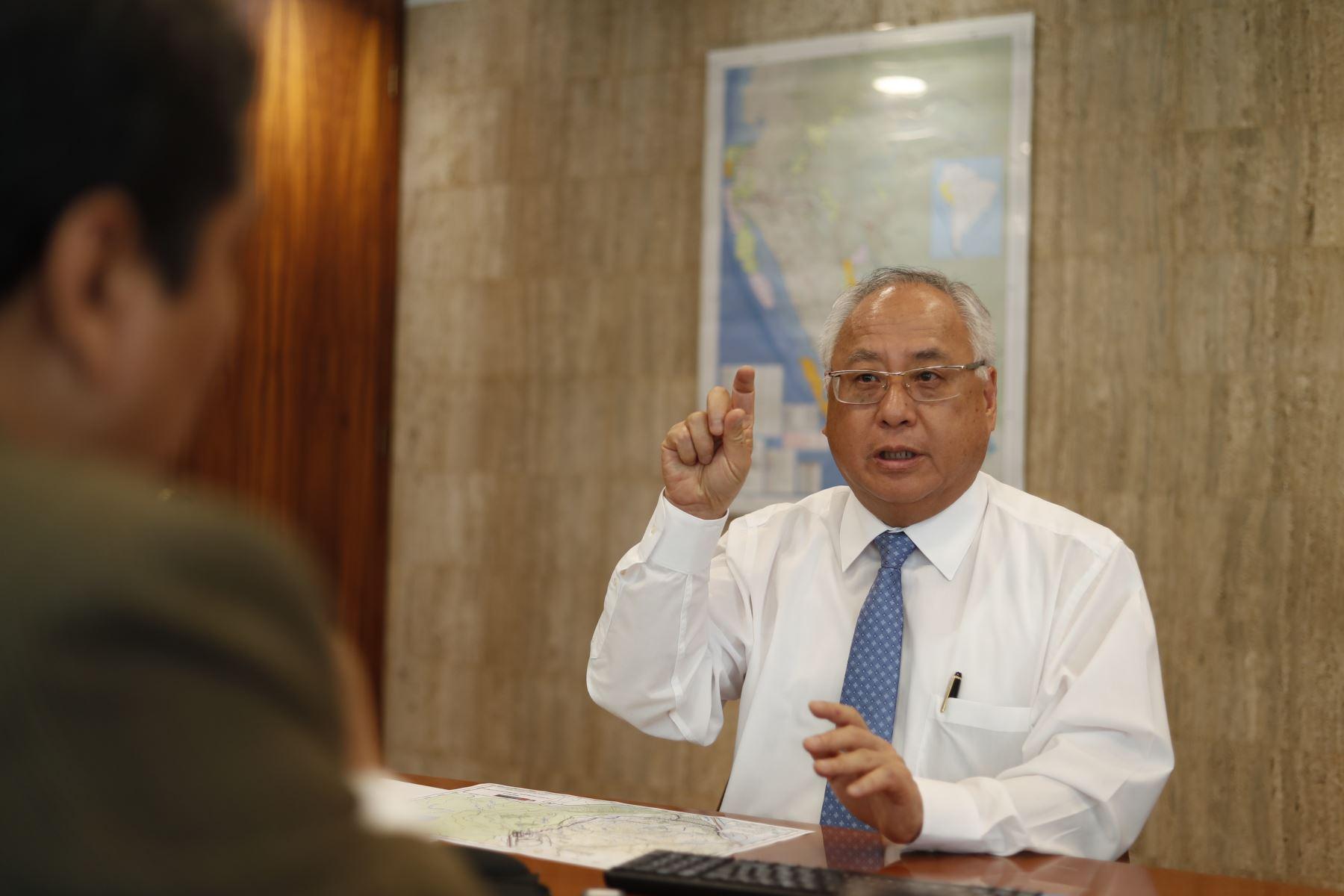 Ministro de Energía y Minas, Juan Carlos Liu. ANDINA/Renato Pajuelo