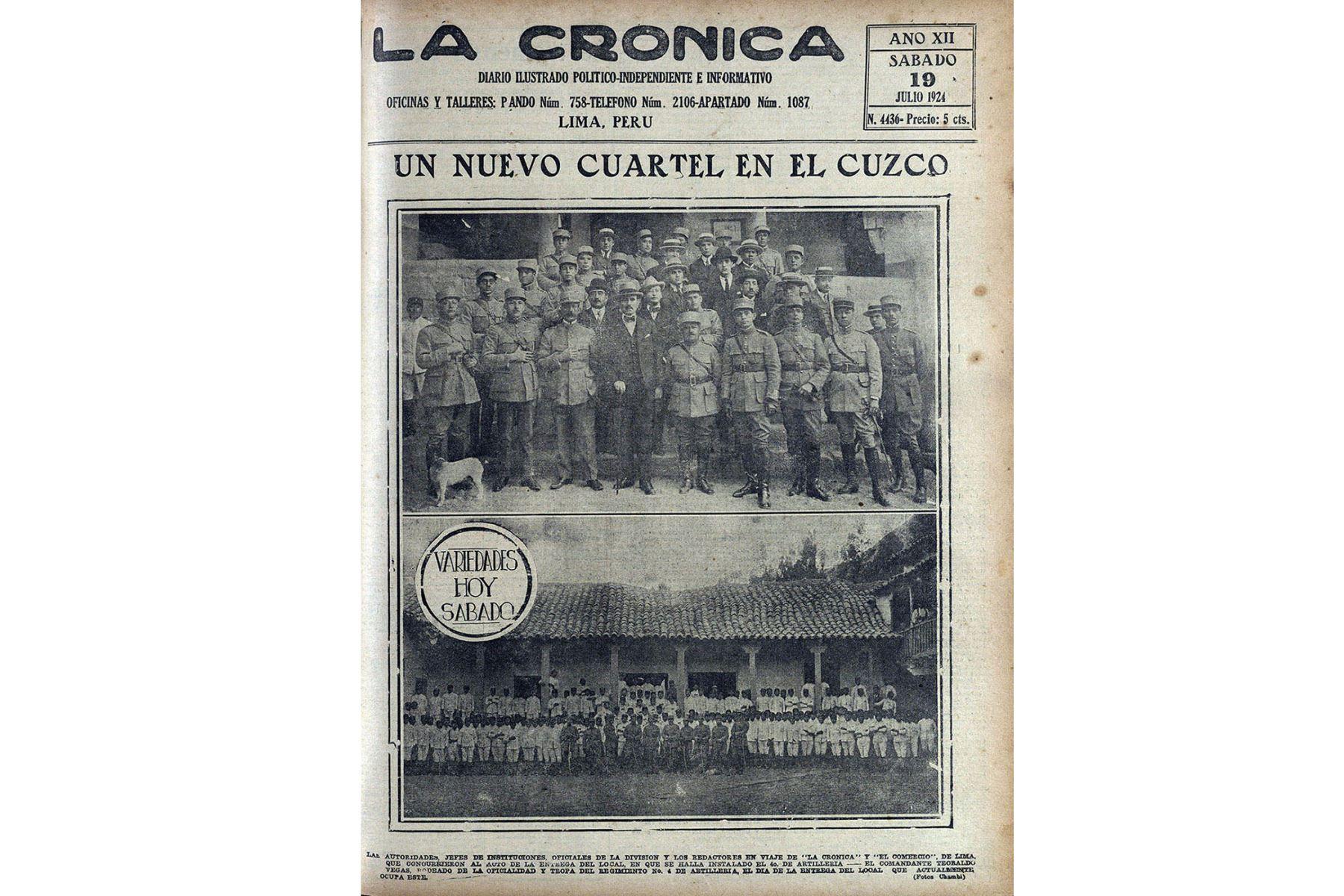 Lima - 2019 / Reproducciones del diario La Crónica con la obra del fotógrafo cusqueño Martín Chambi. Foto: Centro de Documentación del Diario Oficial  El PERUANO