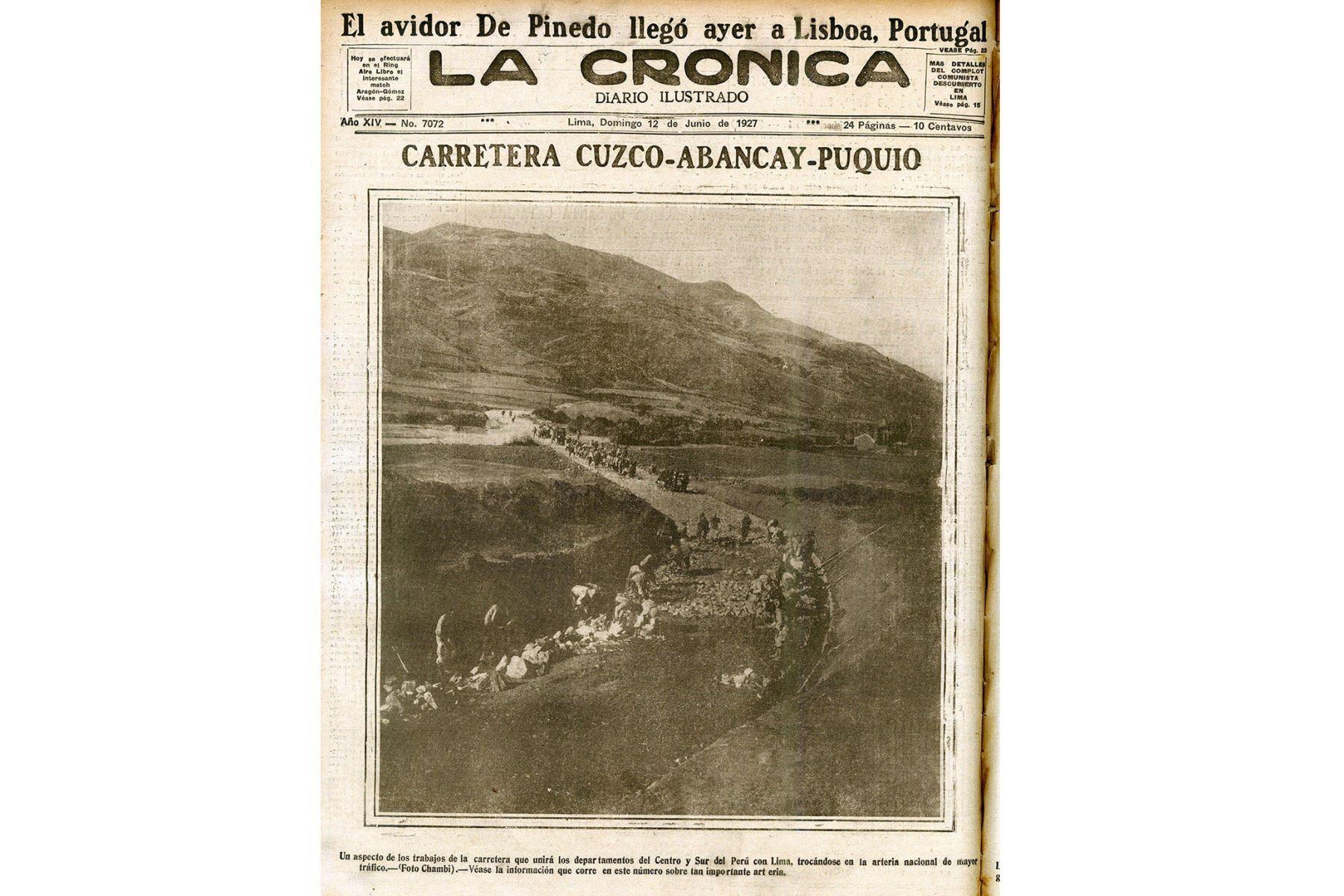 Lima - 2019 / Reproducciones del diario La Crónica con la obra del fotógrafo cusqueño Martín Chambi. Foto:Centro de Documentación del Diario Oficial  El PERUANO