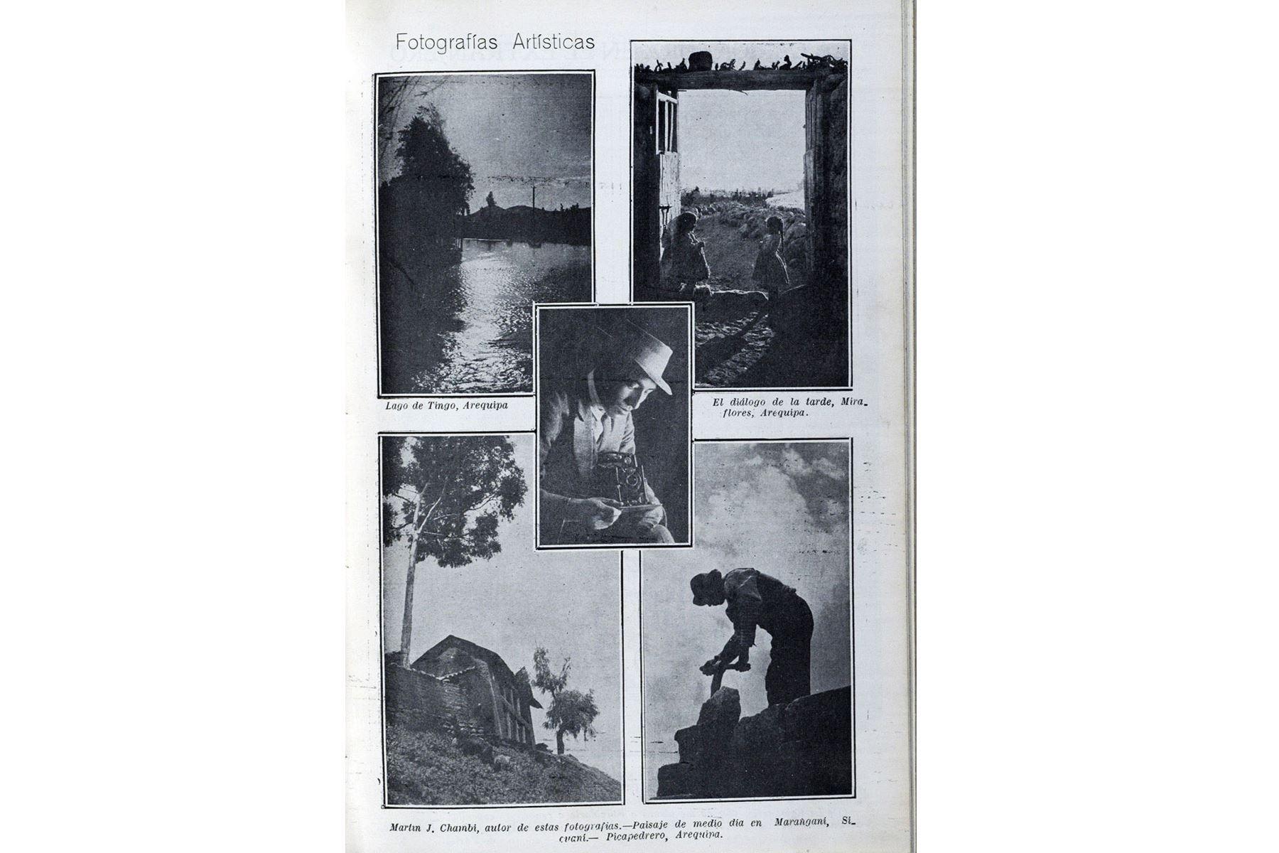 Lima - 2019 / Reproducciones de la Revista Variedades con la obra del fotógrafo cusqueño Martín Chambi.  Foto: Centro de Documentación del Diario Oficial  El PERUANO