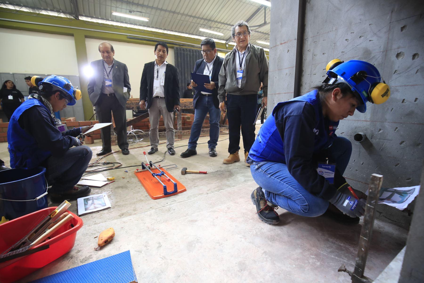 El ministerio de Educación inauguró las Olimpiadas de Habilidades Tecnológicas en el marco del Encuentro Nacional SUPERATEC 2019.  Foto: ANDINA / Juan Carlos Guzmán Negrini.