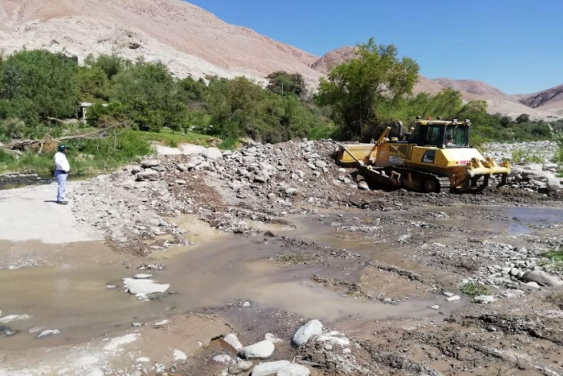 Moquegua: ANA realiza trabajos de prevención en río Tumilaca - Agencia Andina