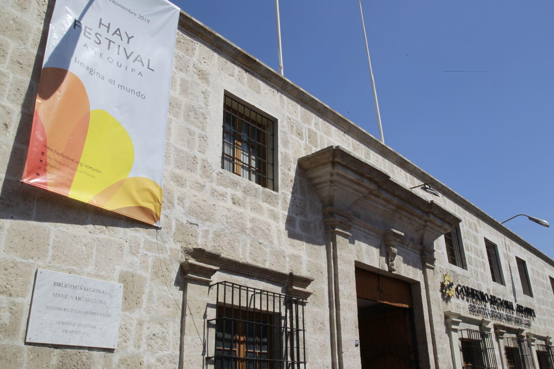 Biblioteca Regional Mario Vargas Llosa, una de las sedes de Hay Festival Arequipa. ANDINA