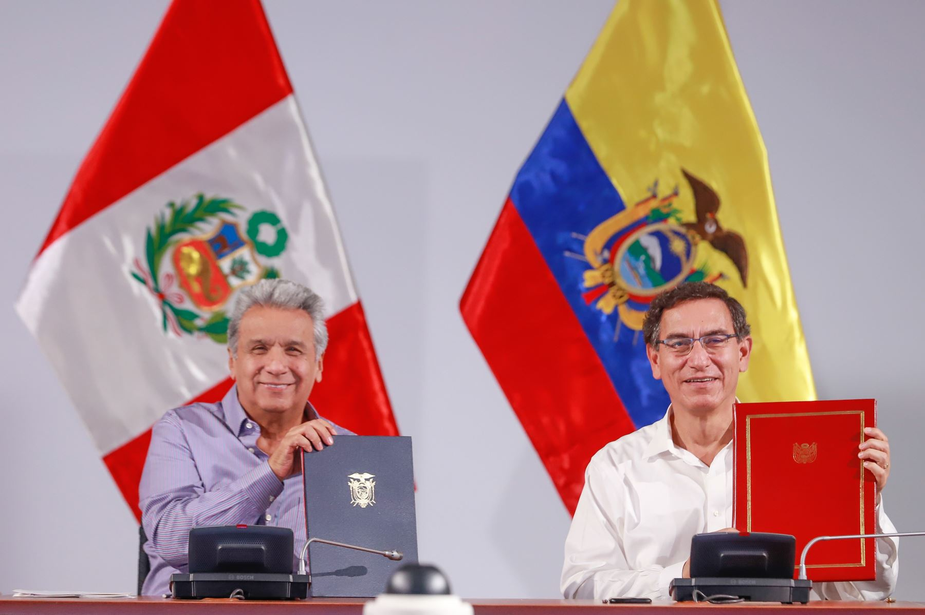 Encuentro Presidencial y XIII Gabinete Binacional Perú – Ecuador en Tumbes. Foto: ANDINA/ Prensa Presidencia
