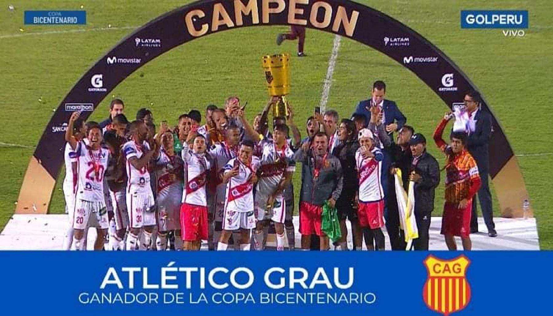 Atlético Grau de Piura gana Copa Bicentenario y disputará la Copa Sudamericana. Foto: Facebook.