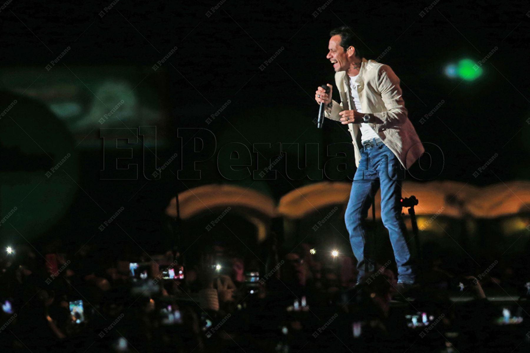 """Lima - 3 agosto 2018 / Marc Antony en  el concierto """"Junto2"""" en el Estadio Monumental. Foto: Diario El Peruano / Jhony Laurente"""