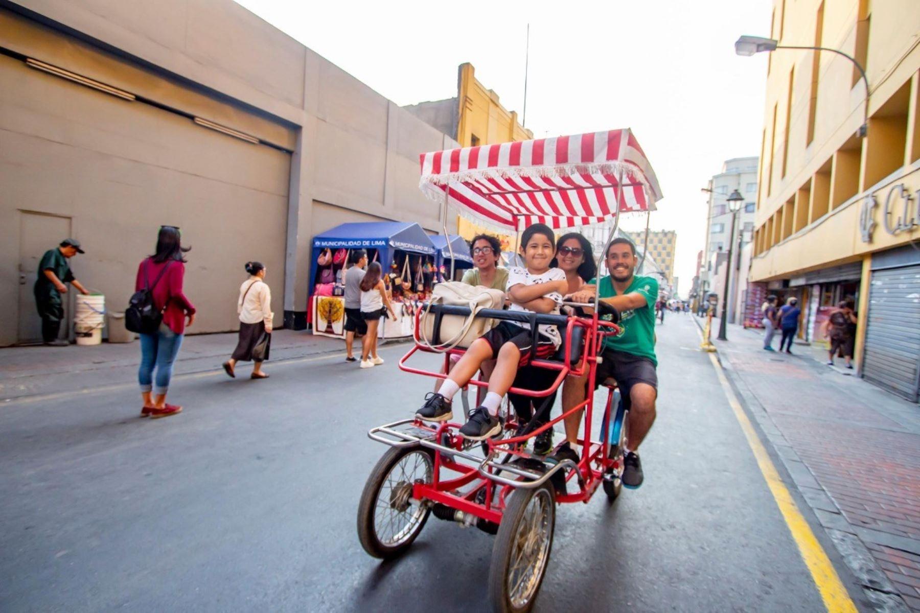 Grandes y chicos disfrutarán de actividades gratuitas en el Centro de Lima durante el programa Al Damero de Pizarro sin Carro. Foto: ANDINA/Difusión.