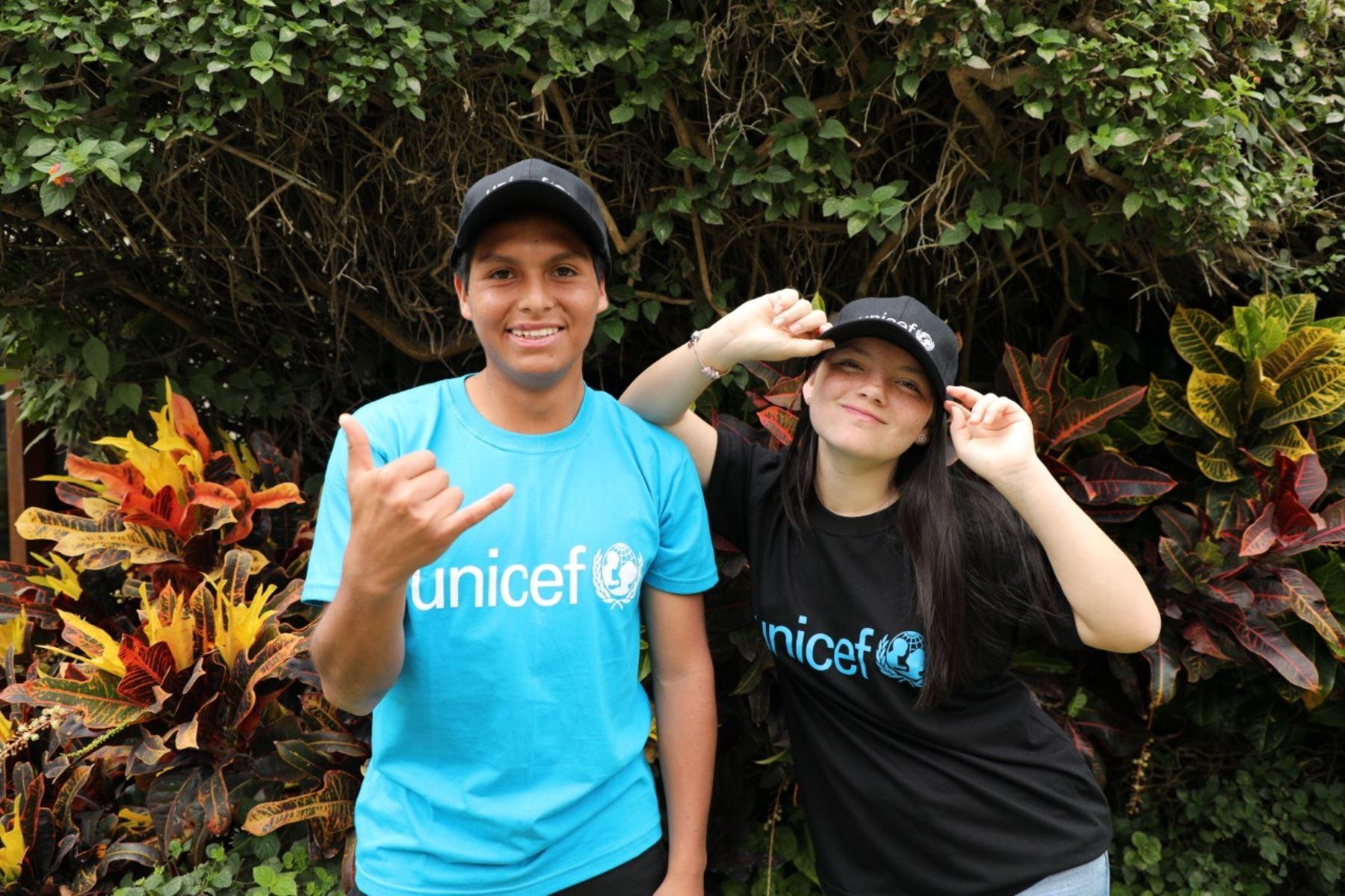Los artistas peruanos Francisca Aronsson y Júnior Béjar Roca son nombrados embajadores de Unicef. Foto: ANDINA/Difusión.