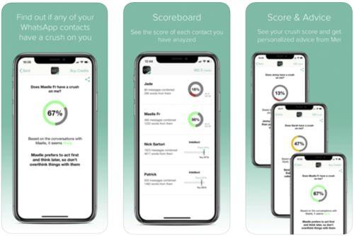 La aplicación Mei analiza las palabras y expresiones de las conversaciones de Whatsapp, a través de un asistente de inteligencia artificial, para comunicarle al usuario si la persona con la que habla está interesado en él de manera afectiva.