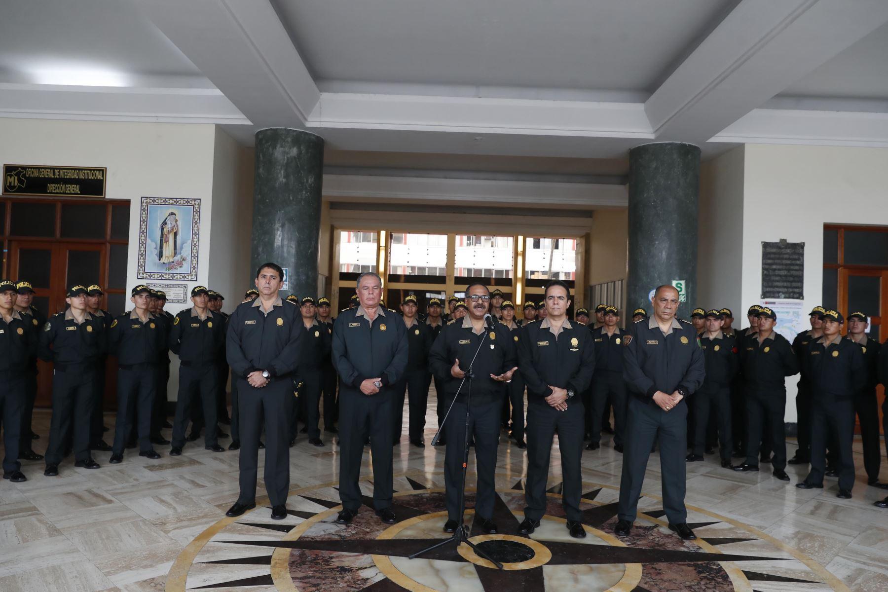 El Poder Ejecutivo, a través del Ministerio del Interior, reasignó en sus funciones a generales del Alto Mando de la Policía Nacional del Perú (PNP). Foto: ANDINA/Renato Pajuelo