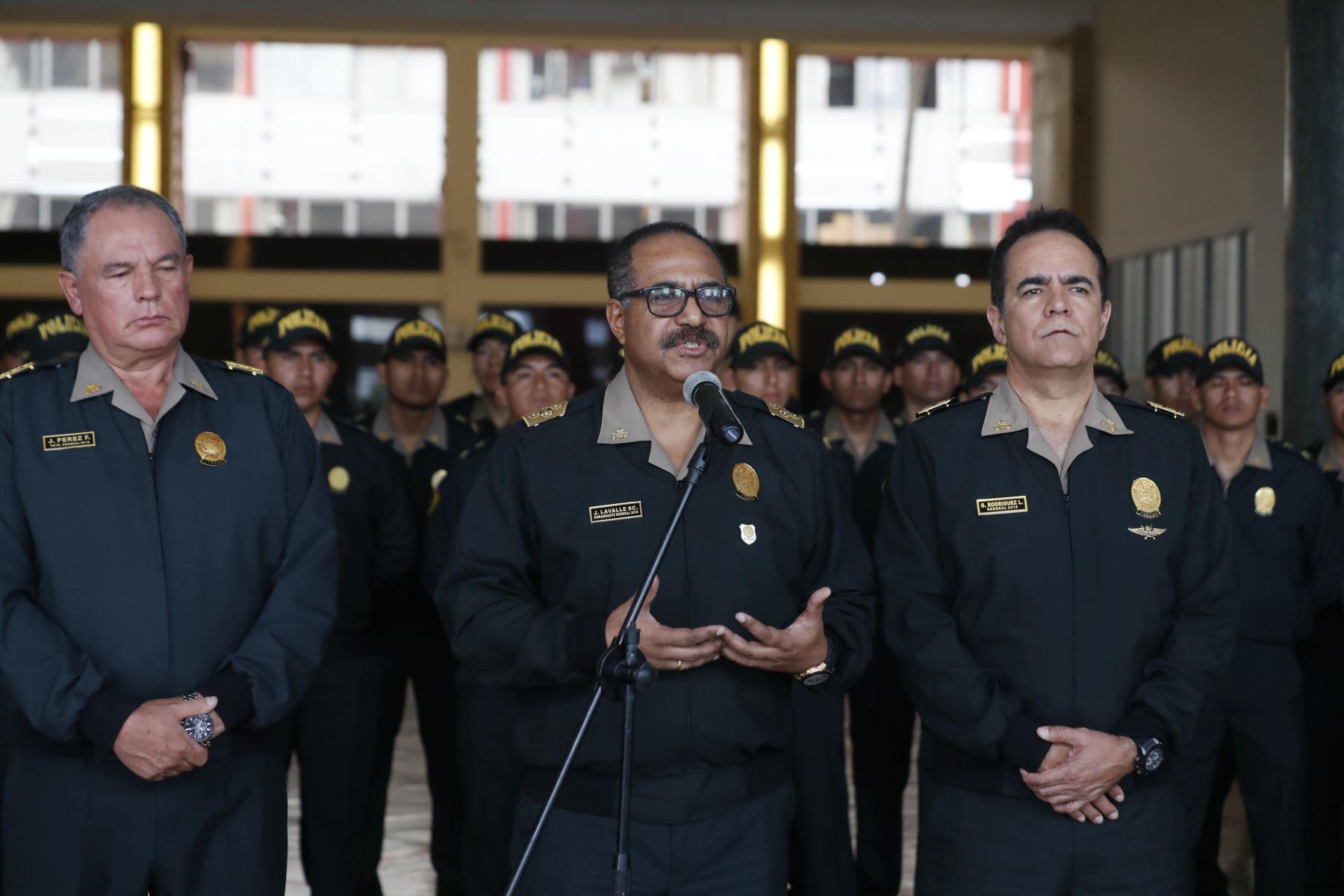 Comandante general PNP José Lavalle anuncia cambios  en el Ministerio del Interior, sobre reasignación en sus funciones a generales del Alto Mando de la Policía Nacional del Perú (PNP). Foto: ANDINA/Renato Pajuelo