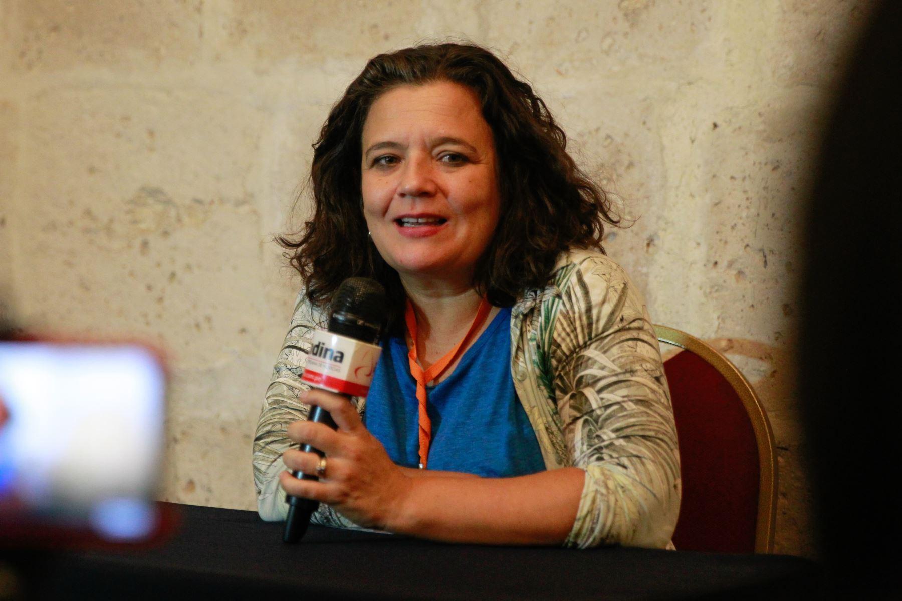 Cristina Fuentes La Roche, directora Hay Festival Internacional. ANDINA/Braian Reyna.