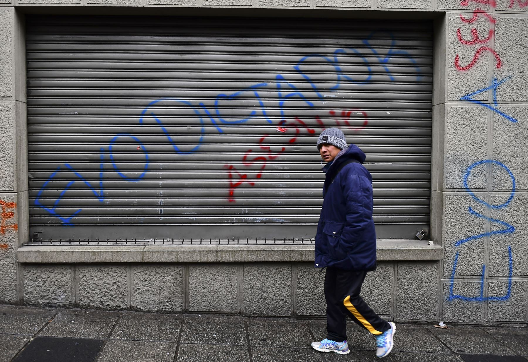 Imágenes en la Paz , tras las protestas contra el presidente Evo Morales.  Foto: AFP