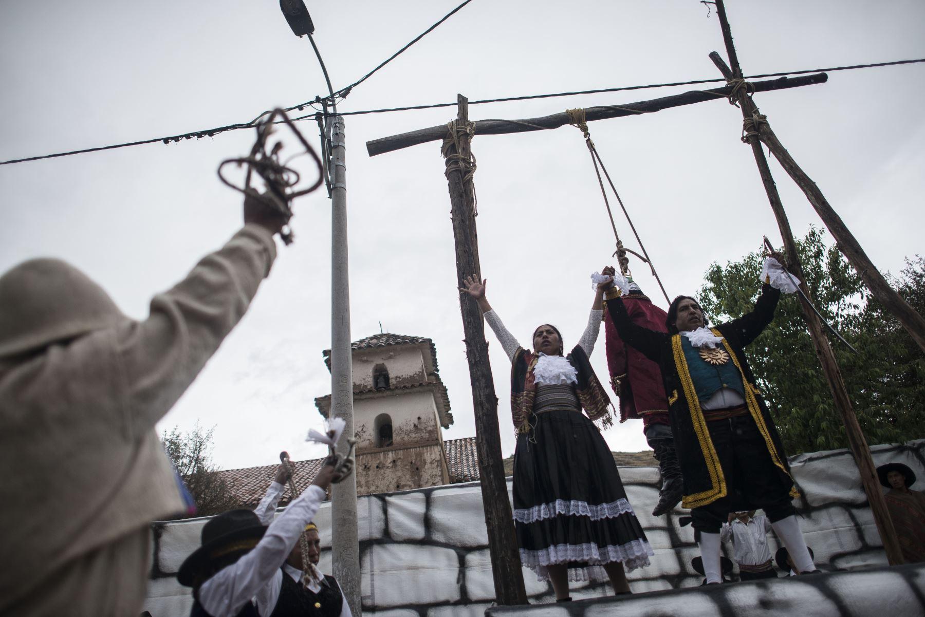 Conmemoración de los 239 años de la rebelión de Túpac Amaru II y Micaela Bastidas en Tungasuca, Cuzco. Foto: Difusión
