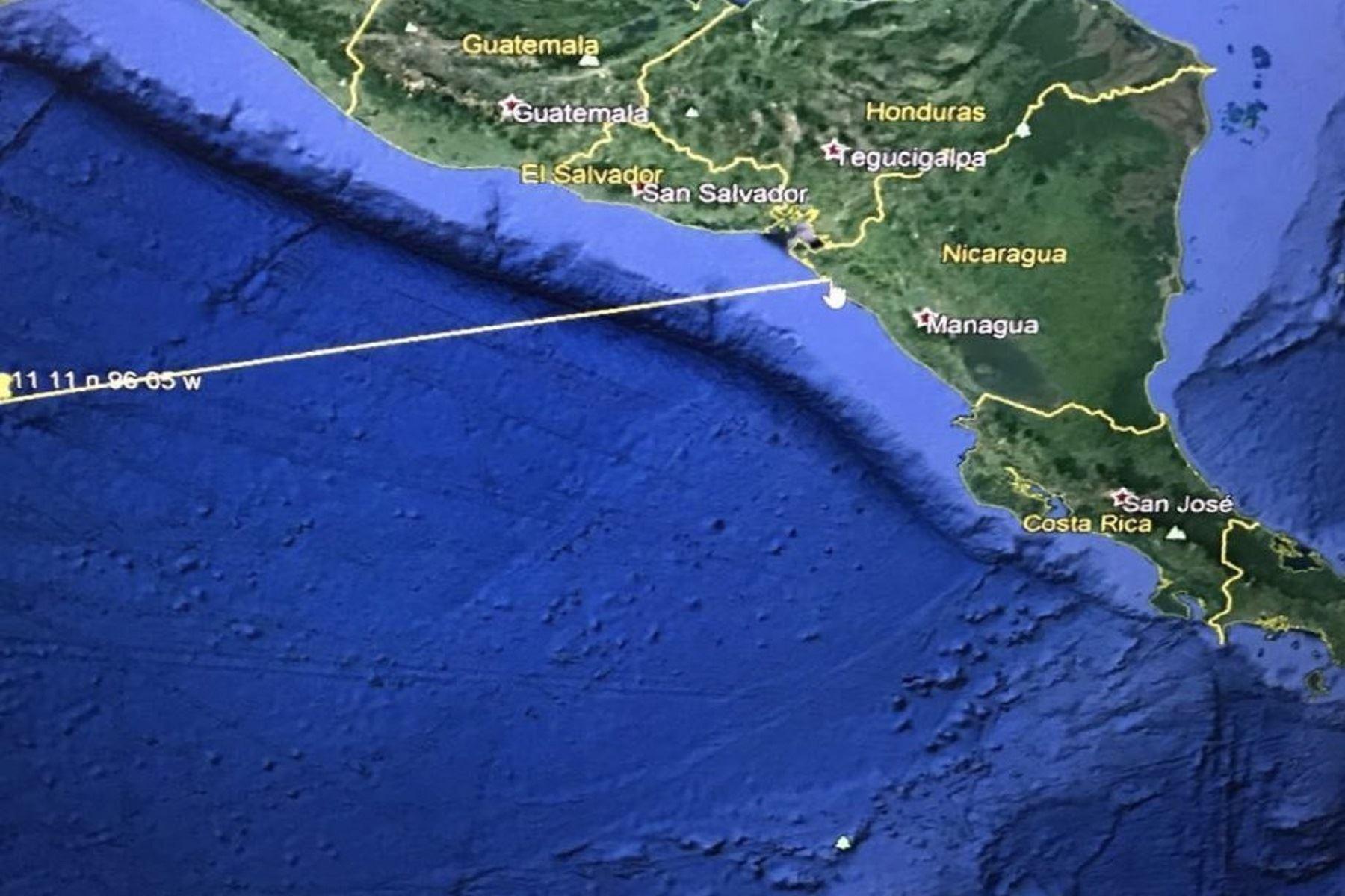El Salvador: Piden evacuar zonas bajas de costa por amenaza tsunami Foto: Twitter embajada de EE.UU en El Salvador