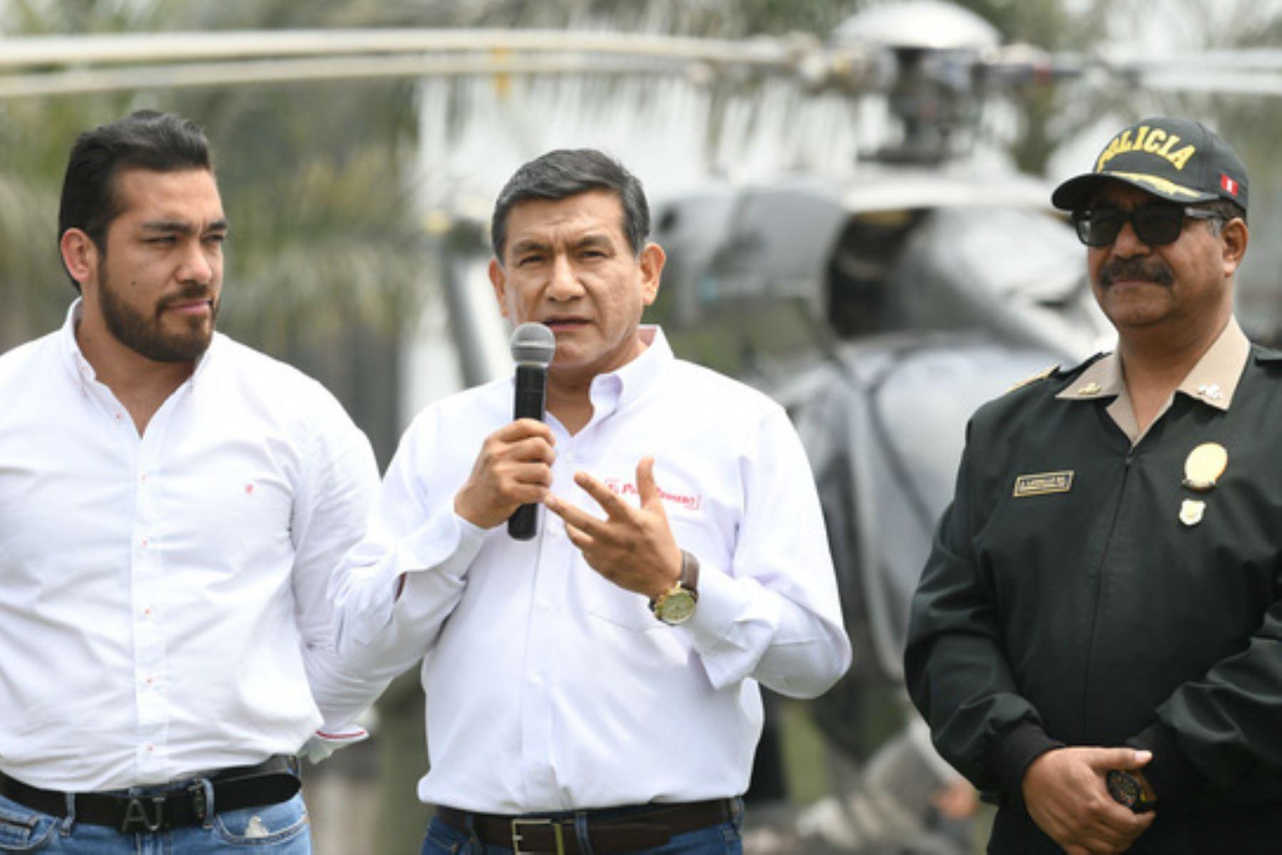 El ministro del Interior, Carlos Morán, inauguró en La Molina el Centro Integral de Operaciones Estratégicas. Foto: Mininter