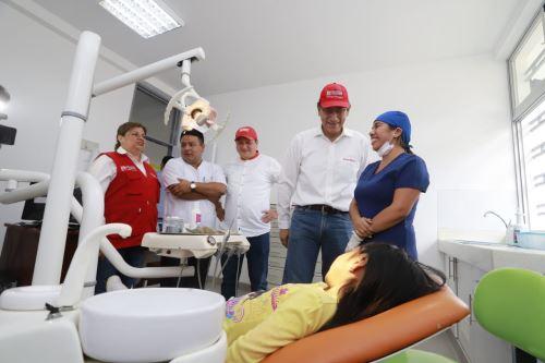 El presidente Martín Vizcarra, inaugura el centro de salud del distrito de Canchaque, en la región Piura