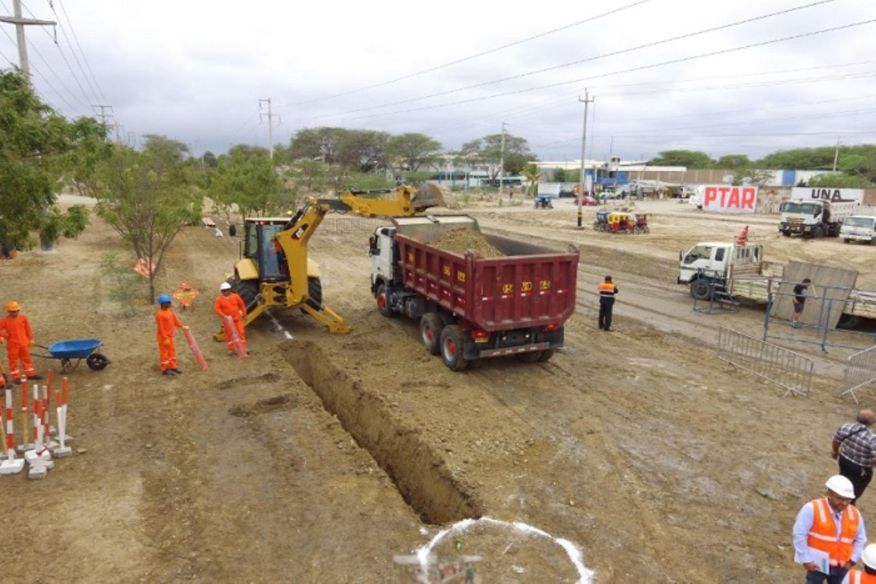 Ministerio de Vivienda gestiona recursos adicionales para acelerar obras de agua y alcantarillado en distrito de La Unión, en Piura. ANDINA/Difusión