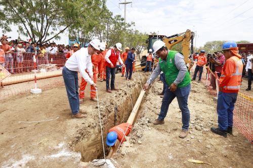 Presidente Vizcarra participa en el inicio de la construcción de la planta de tratamiento de aguas residuales en  Sullana