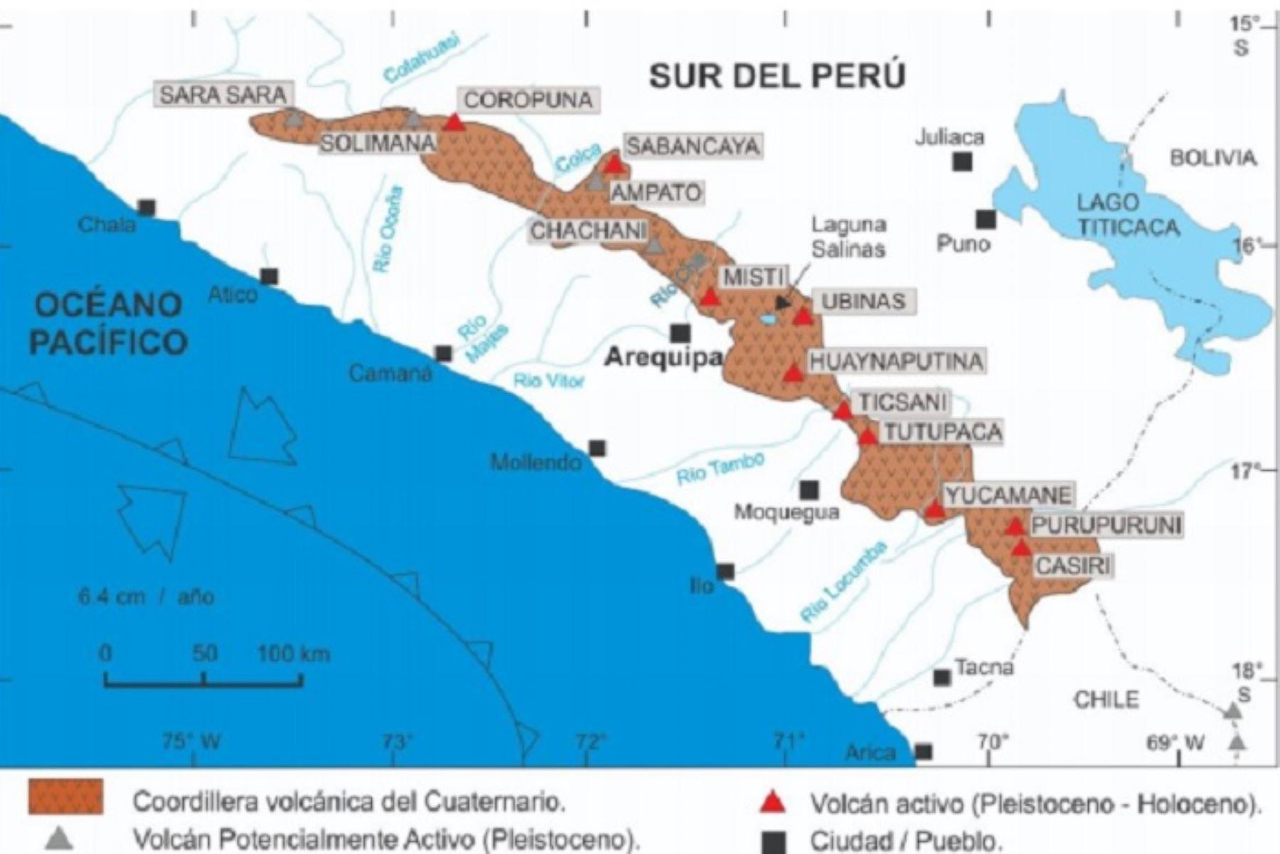 Ingemmet Hay Diez Volcanes Activos En El Peru Video Noticias Agencia Peruana De Noticias Andina