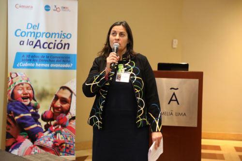 Unicef. Ana de Mendoza, representante