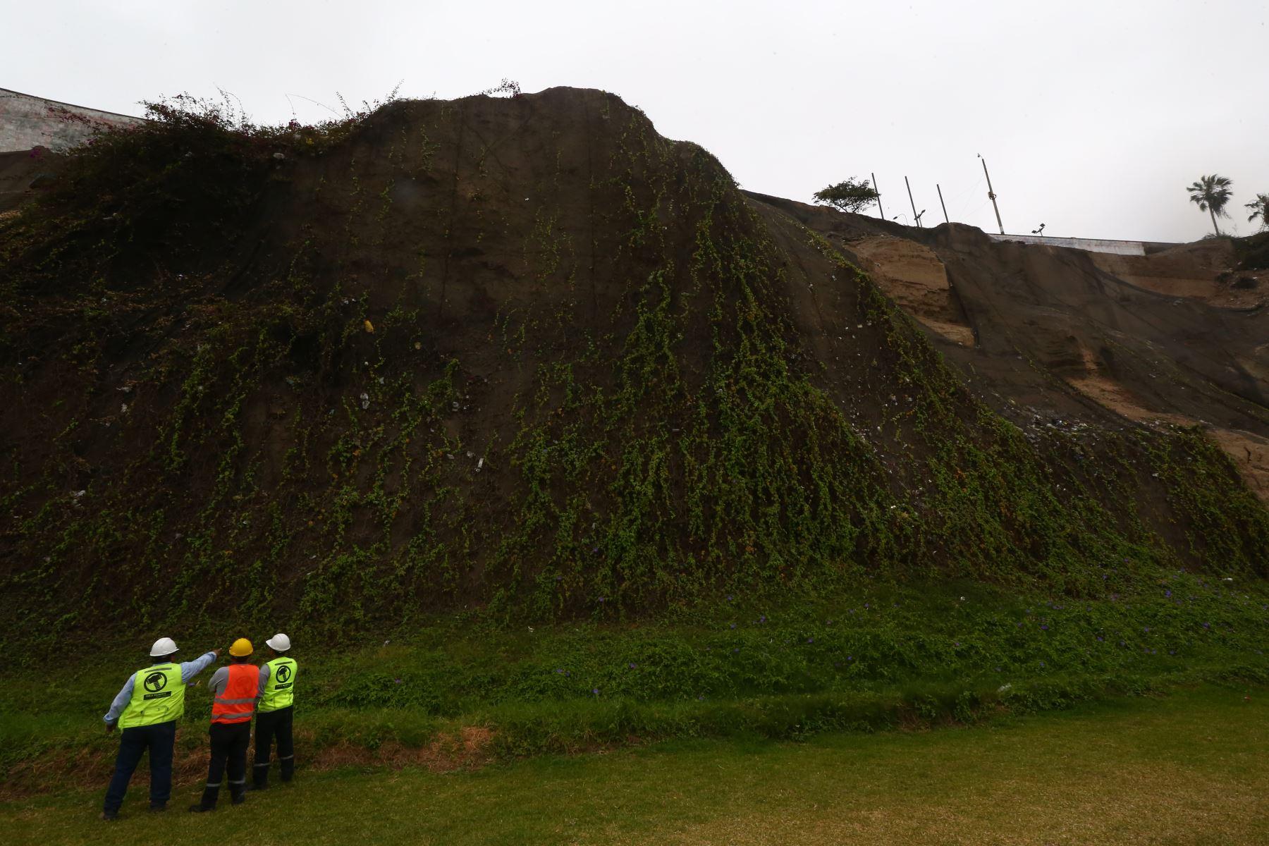 Las primeras acciones serán el retiro y mantenimiento de geomallas dañadas. Foto: ANDINA/Melina Mejía