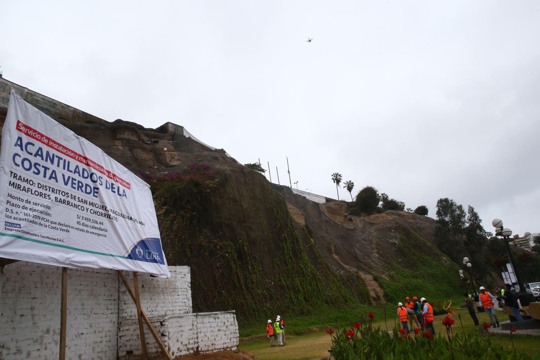 Alcalde de Lima, Jorge Muñoz a solicitado la ampliación de la declaratoria de emergencia en acantilados de la Costa Verde. Foto: ANDINA/Melina Mejía