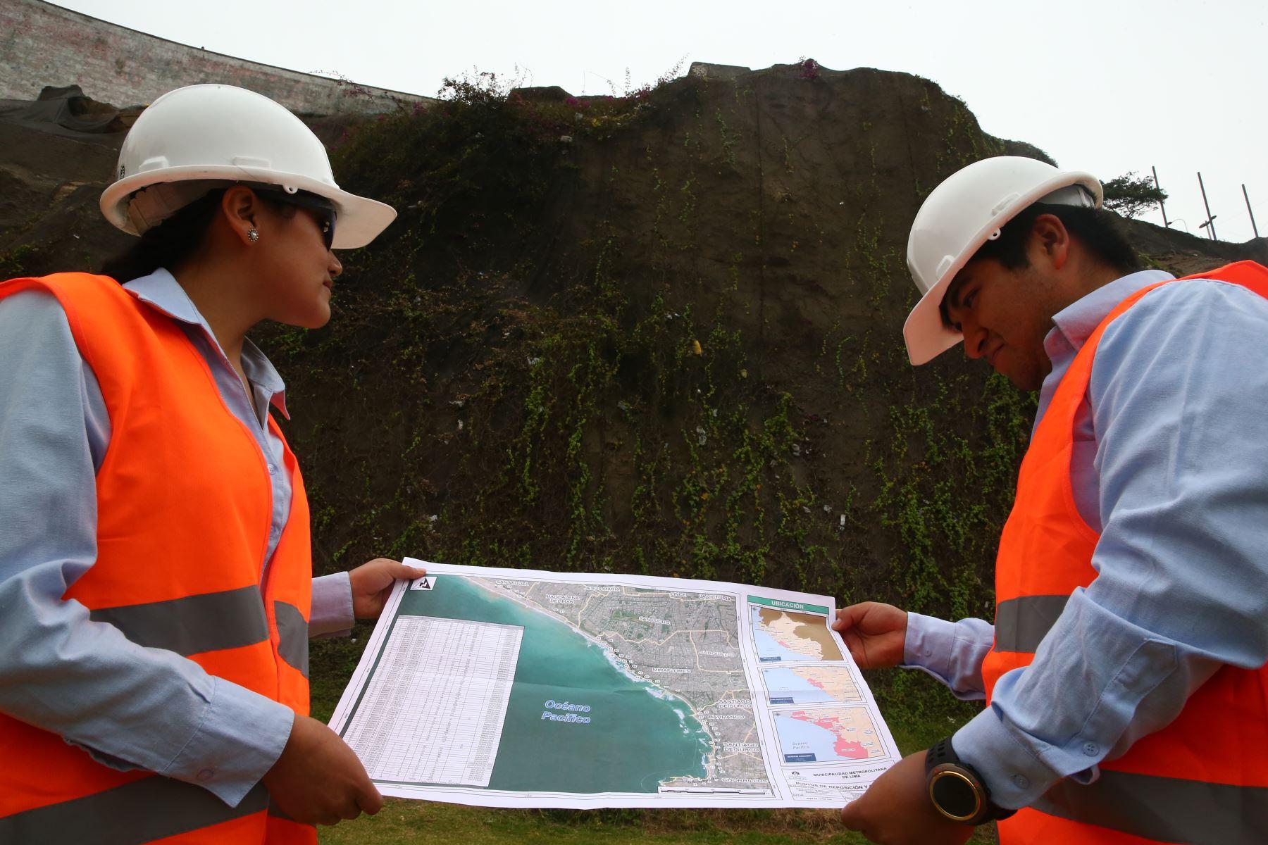 En el marco del estado de emergencia en la zona de la Costa Verde se hará mantenimiento en  los acantilados. Foto: ANDINA/Melina Mejía