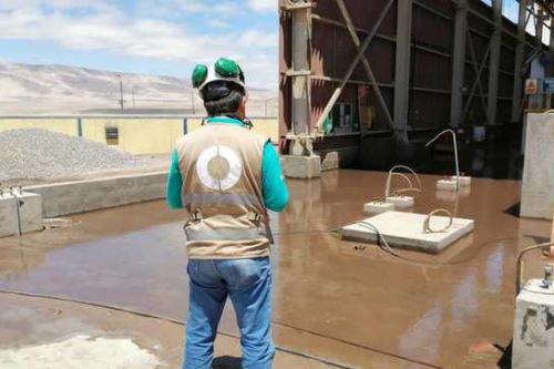 El OEFA supervisa derrame de relaves registrado en la Minera Shouxin Perú S.A., ubicada en el distrito de Marcona, región Ica,
