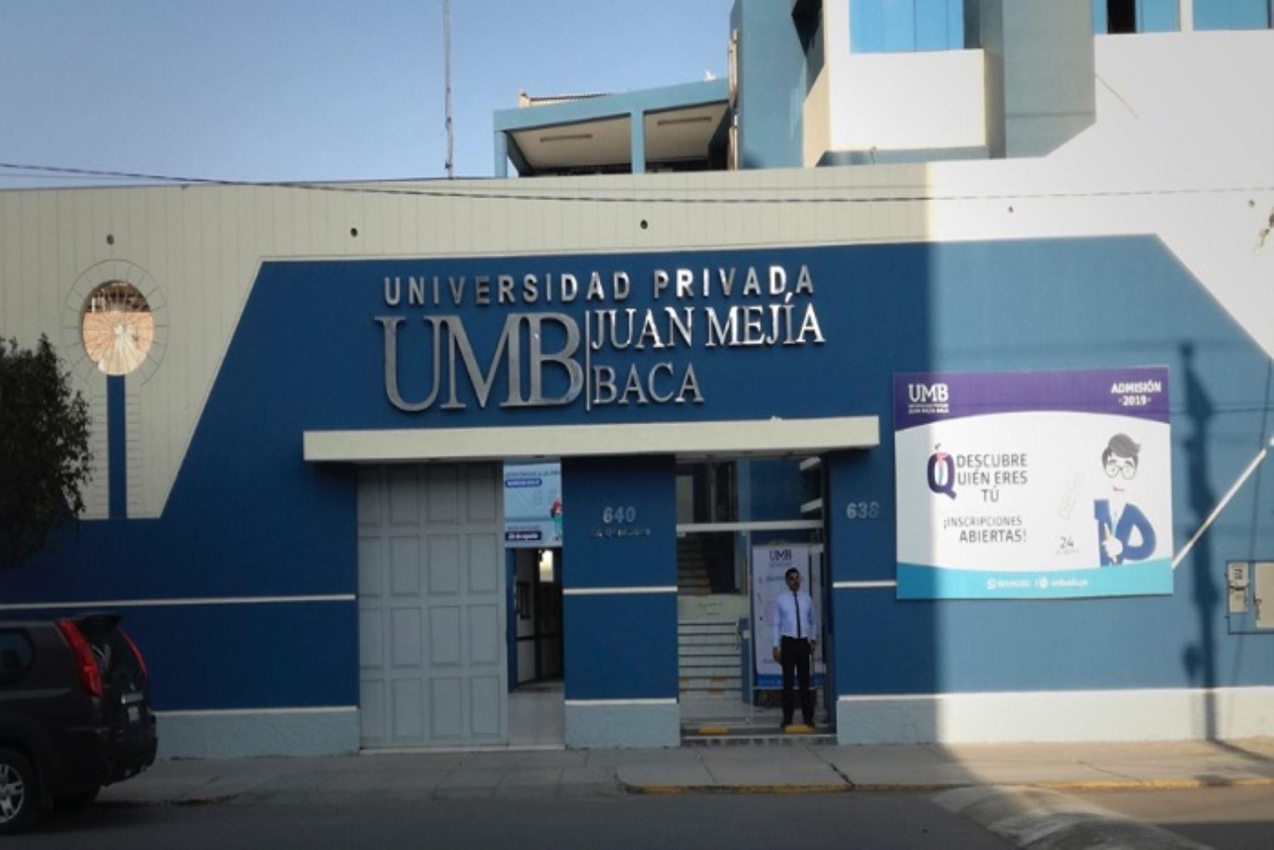 La Universidad Juan Mejía Baca (Lambayeque) deberá cesar sus actividades educativas en un plazo máximo de dos años, contados a partir del próximo semestre académico.