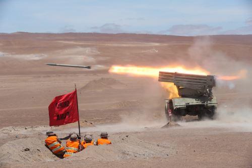 Ejercicio conjunto Escudo II en Locumba, donde se demostró la capacidad operacional de las FF. AA.