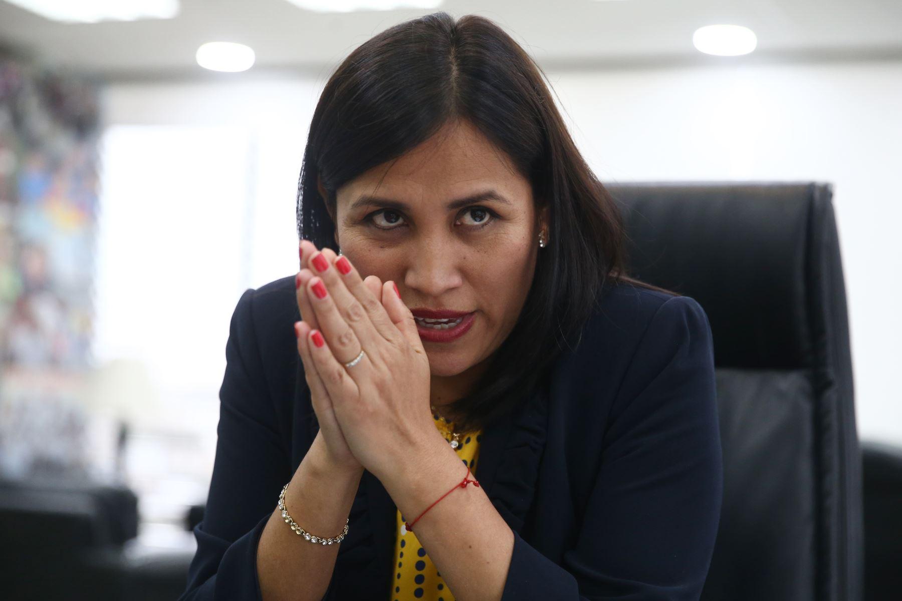 Ministra de Educación, Flor Pablo. Foto: ANDINA/Vidal Tarqui